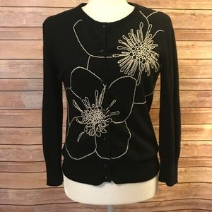 """""""Tabitha"""" embroidered button up sweater"""